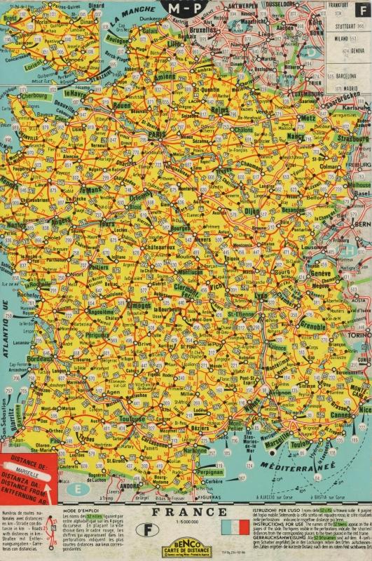 Prospectus - Worms Services Maritimes - carte de distance (recto)