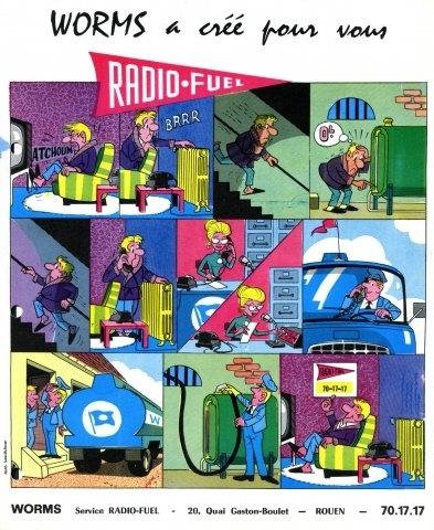 Publicité Worms Radio-Fuel