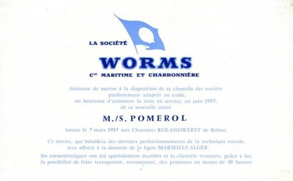 """Dépliant de Worms CMC - mise en service de """"Pomerol"""" (page 3)"""