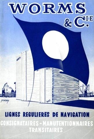 Dépliant des Services maritimes Worms & Cie (page 1)