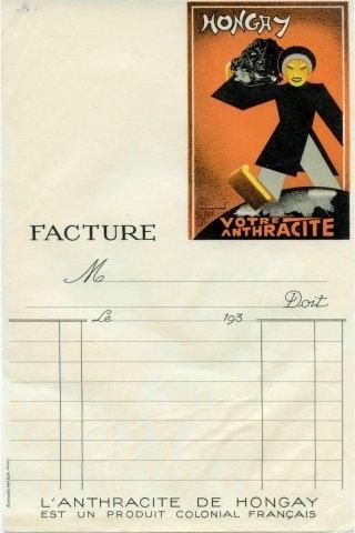 "Facture ""Hongay votre anthracite"""