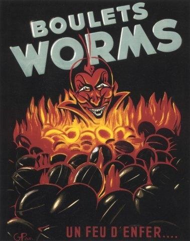 Affiche des Services charbons Worms & Cie