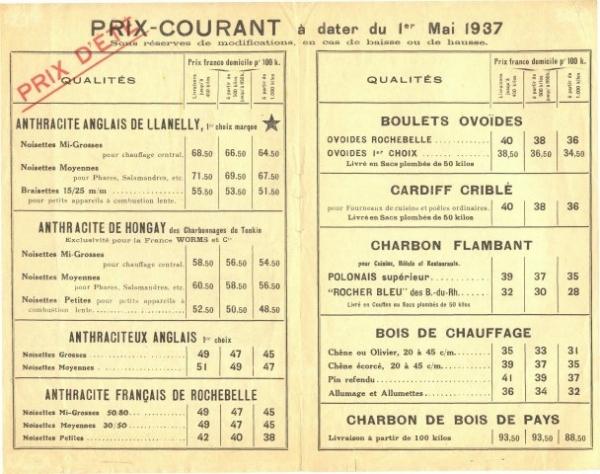 Dépliant des Services combustibles Worms & Cie (page 2)