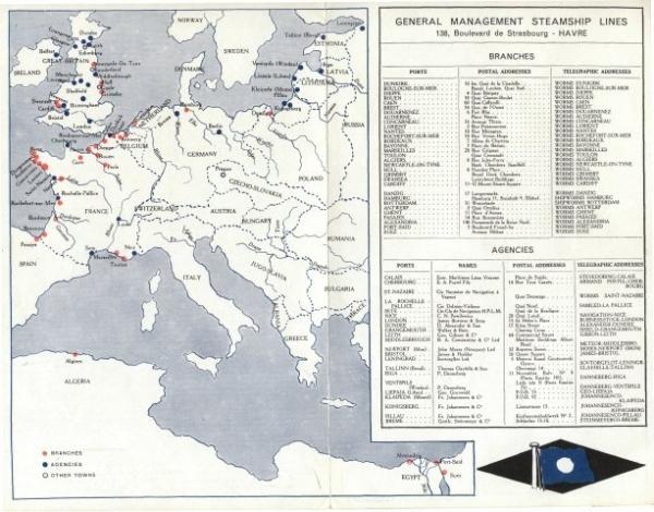 Dépliant des Services maritimes Worms & Cie (page 2)