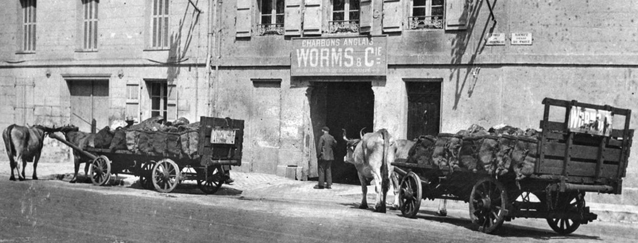 Périgueux - Transport de charbon -  années 1950