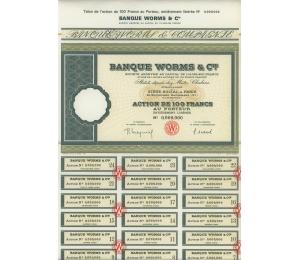Banque Worms & Cie - Action au porteur