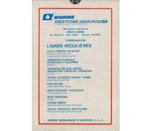 Prospectus - Worms Services Maritimes - carte de distance (verso)
