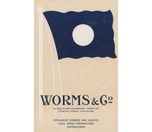 Dépliant en anglais des Services maritimes Worms & Cie (page 1)