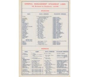 Dépliant en anglais des Services maritimes Worms & Cie (page 3)