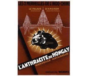 """Affiche """"L'Anthracite de Hongay - exclusivité Worms"""""""
