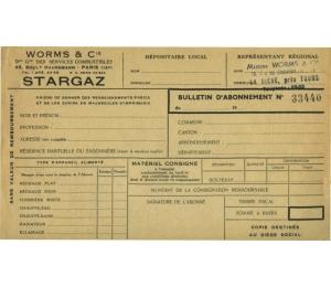 Formulaire Worms & Cie - Stargaz