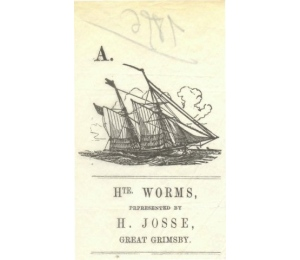 En-tête au nom de Hte Worms Great Grimsby