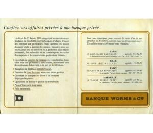Publicité - Banque Worms & Cie