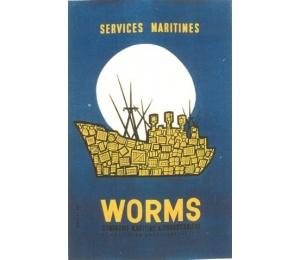 Affiche des Services maritimes de Worms CMC