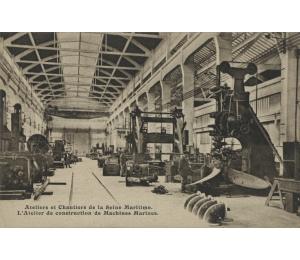 Les ateliers de construction de machines marines